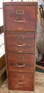 NICE ANTIQUE OAK FILE FILING CABINET FROM THE 1930'S