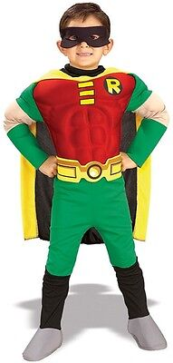 Teen Titans ROBIN Deluxe Muscle Chest Toddler Costume BATMAN HALLOWEEN - Batman And Robin Halloween Costumes Toddler