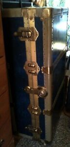 Late 30's/Early 40's Vulcanized Fibre Antique Steamer Trunk