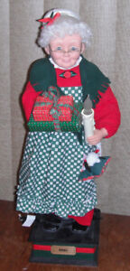 LARGE Animated MRS CLAUS 25 inches tall