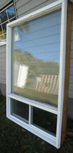 "Thermal window vinyl cover bottom slider with screen W 47"" H 68"""