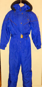 2 VINTAGE ONE-PIECE SKI SUITS Ladies Medium