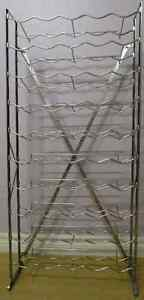 Galvanized Metal Standing Wine Rack Holds 50 Bottle Wine Storage Stratford Kitchener Area image 1