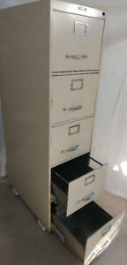 Metal Filing Cabinet  with 5 deep drawers