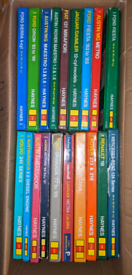 Box of Haynes manuals for 80s to 90s cars