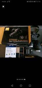 NIKON D7000 WITH TWO LENSES AND CAMERA BAG