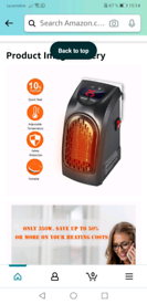 Handy Heater, Portable 350W Wall Out-let Electric Space Heater
