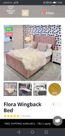 £250 is £360 online. Pink velvet gas lift single ottoman bed.