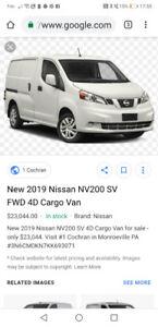 2019 New Nissan Cargo Van For Sale