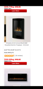 Dimplex 23-Mounted Electric Fireplace - VCX1525
