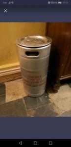 Pop beer keg