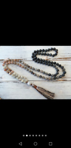Beautiful moonstone mala necklace