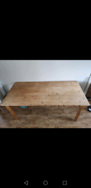 Pine table 6-8 seater 6ftx3ft