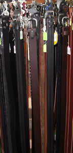 """Leather belts - Many styles - All sizes up to 60"""""""