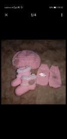 Brand new baby girl knitted set