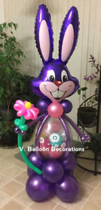 Easter bunny 5 feet high with chocolate surprise inside!