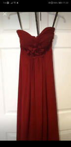 Size 4 Cranberry Bill Levkoff Prom Dress
