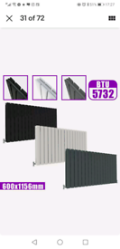 Horizontal Vertical Designer Flat Panel Radiator 1156mmX600mm