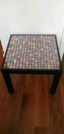 BESPOKE BEER BOTTLE TOP TABLE