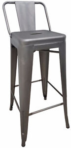 RESTAURANT INDUSTRIAL TOLIX STYLE METAL ARMCHAIR DINING CHAIR
