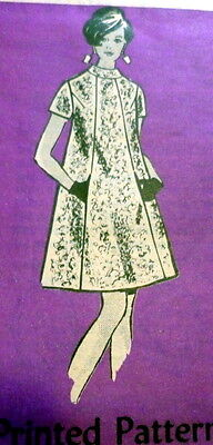LOVELY VTG 1960s DRESS Sewing Pattern 17/37