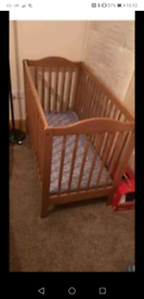 Wooden baby bed used