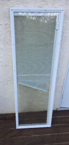 Patio door glass insert with blind