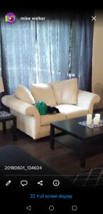 Oversized love sear and chair beige.
