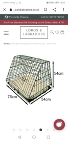 Ellie Bo medium front sloping dog crate for car