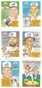 Expos Trading Cards 6 Nabisco 1992 cards