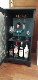 BLACK PAINTED DRINKS CABINET