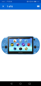 SONY PS Vita slim PCH-2000 Aqua Blue Console