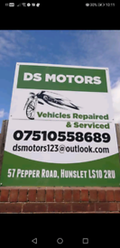 Vehicles repaired and serviced