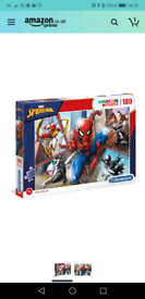 Unopened Spiderman jigsaw puzzle 180 piece paid £10.10