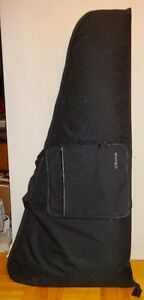 HUGE GUITAR CARRY TRAVEL BAG / NEW / FLYING V AXE / BLACK / WIDE AND HUGE MUSICAL INSTRUMENT CASE / ELECTRIC / OAKVILLE