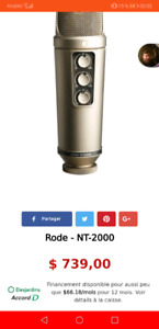 Microphone Rode NT2000 Excellente Condition