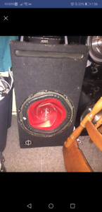 12 inch sony xplod subwoofer and an amp