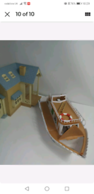 Sylvanian families bundle boat and house