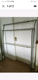 Large Sturdy metal lightweight double X bar clothes rail maiden