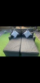 Rattan garden bed