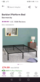 King size bed frame £30