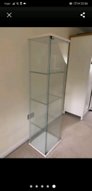 White ikea deltolf glass display cabinets