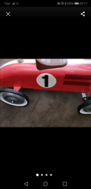 Child's vtg metal push and ride car