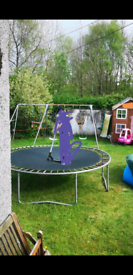 Triple Swingset with extension and 2 Story Playhouse