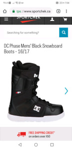 Size 9.5 mens DC snowboard boots