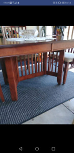 Real wood canadian made table and chairs