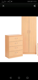 SET OF WARDROBE AND CHEST