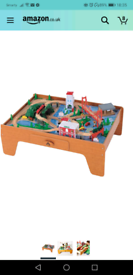 ELC wooden train track table