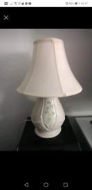 Belleek pottery table lamp