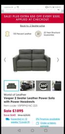 Vesper 2 and 3 seater power recliner sofa